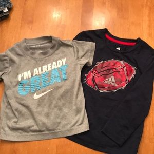 Bundle of two dri-fit athletic shirts